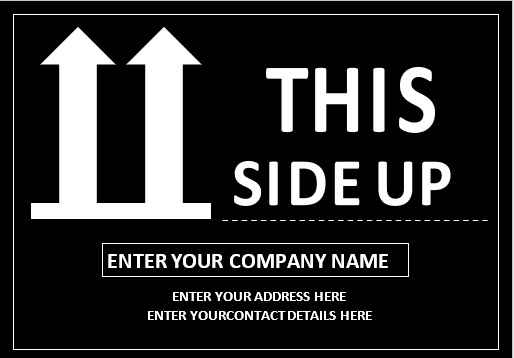 This Side Up Label Template 03