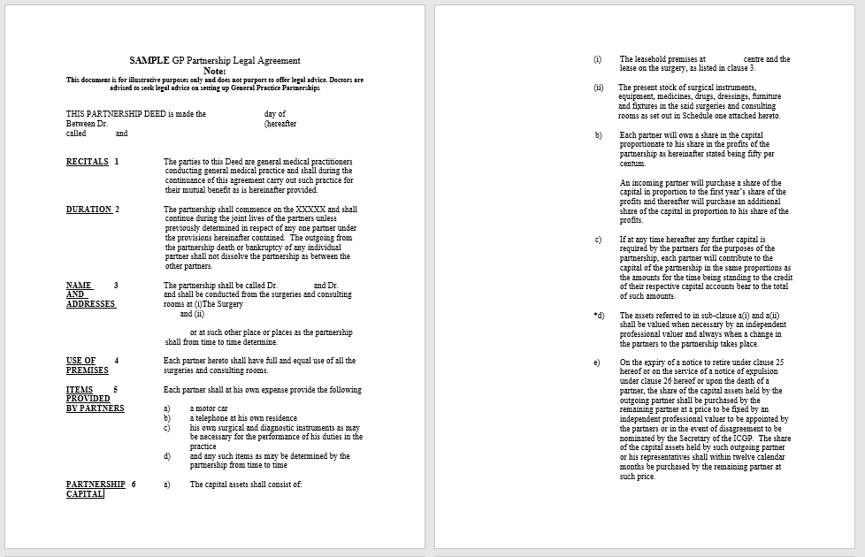 Partnership Agreement Template - MS Word 03