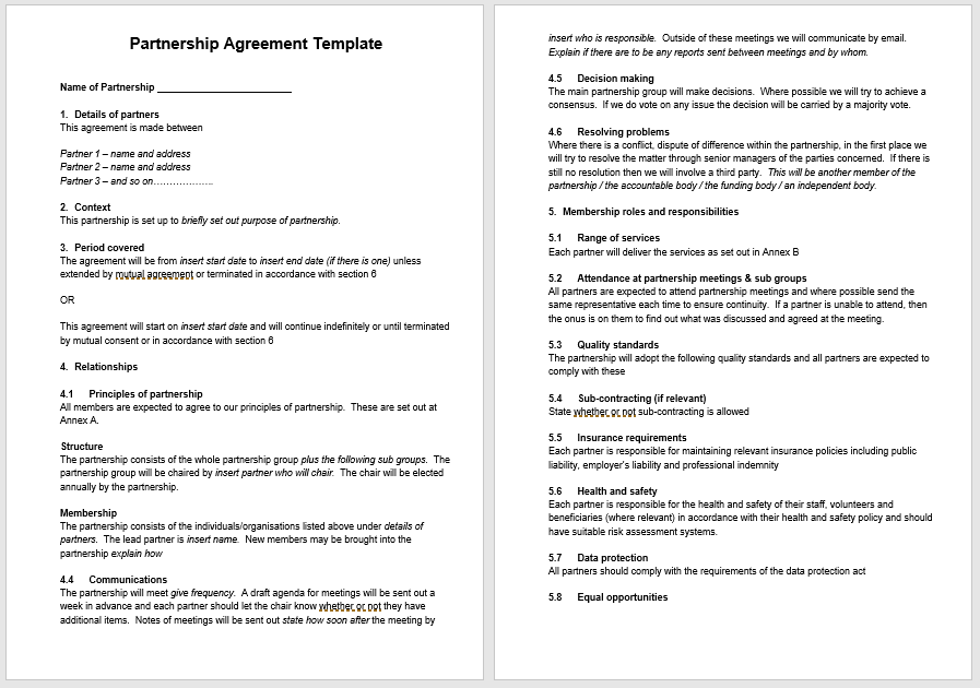 Partnership Agreement Template - MS Word 04