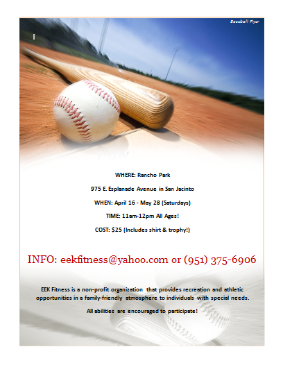 Baseball Flyer Template – Sponsorship Flyer Template