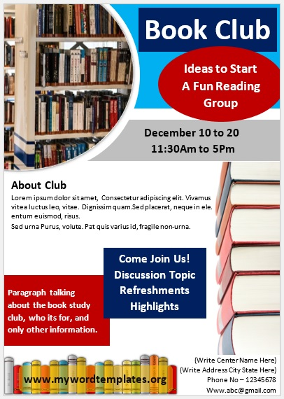 Book Club Flyer Template 05