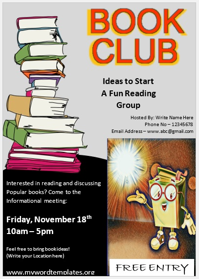 Book Club Flyer Template 07
