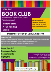Book Club Flyer Template 08