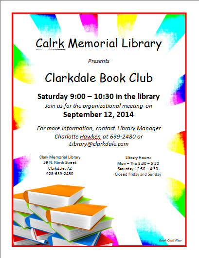 Here is preview of this Book Club Flyer Template created using ...