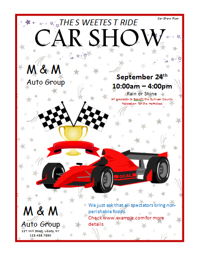 Car Show Flyer Template Microsoft Word Templates .