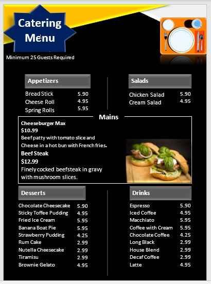 Catering Menu Template 04