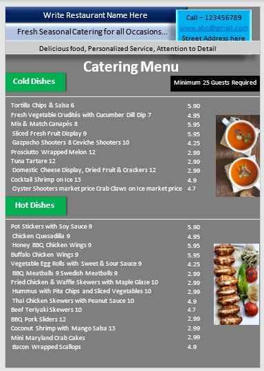 Catering Menu Template 05