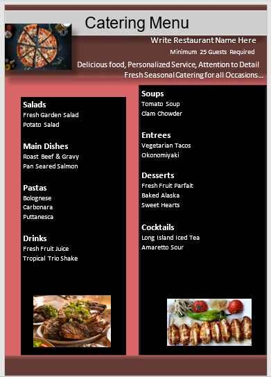 Catering Menu Template 06