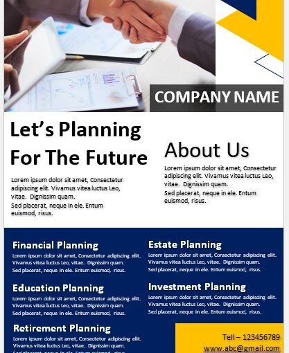 Financial Poster Template For Bank 03