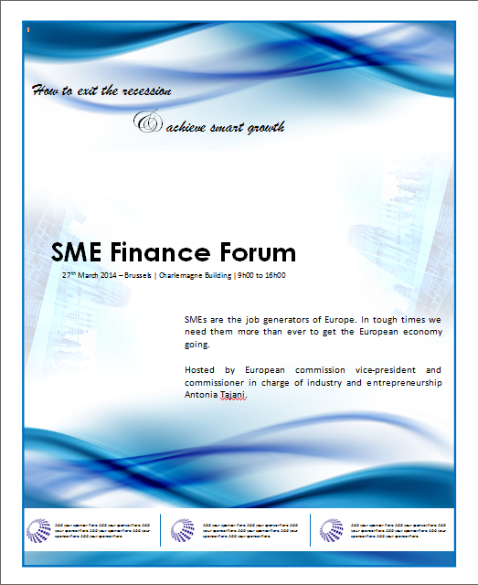 financial poster template for banks