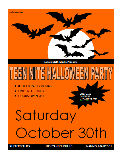 Halloween Party Flyer Template | Microsoft Word Templates