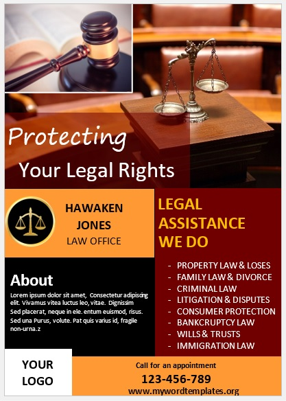 Legal Poster Template 01