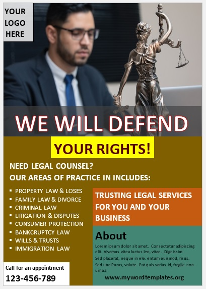 Legal Poster Template 02