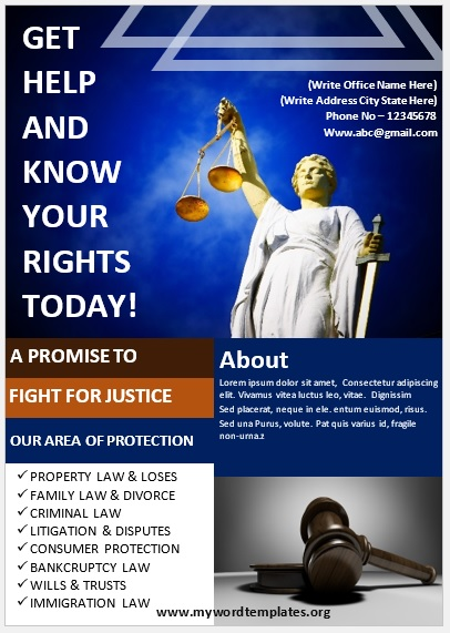 Legal Poster Template 03