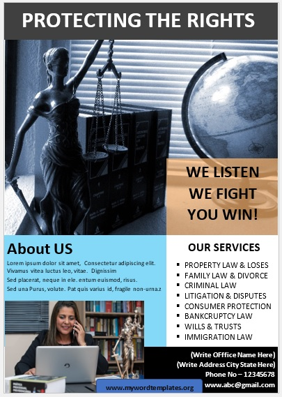 Legal Poster Template 04
