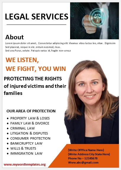 Legal Poster Template 05