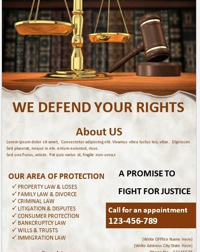 Legal Poster Template 07