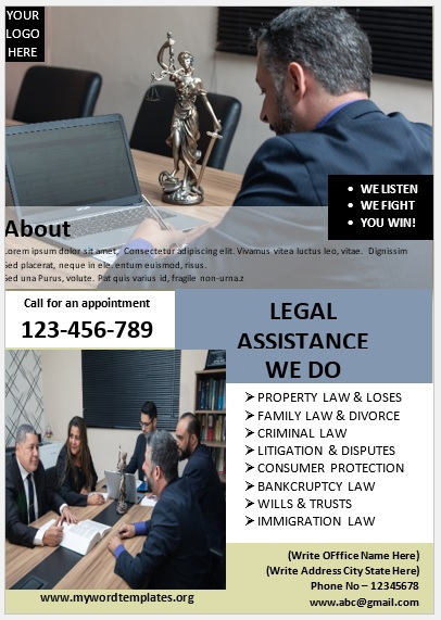 Legal Poster Template 08