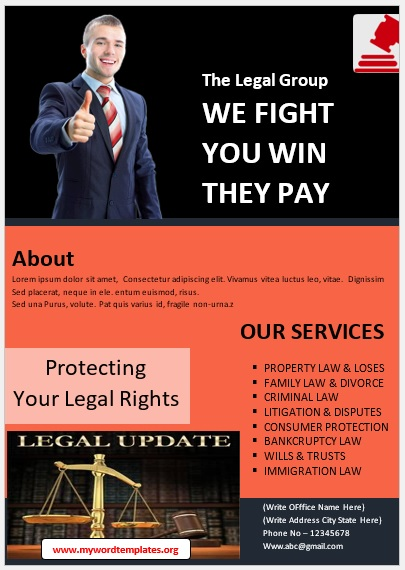 Legal Poster Template 09