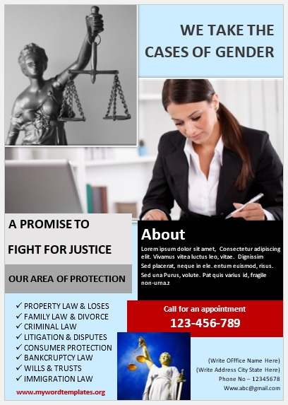 Legal Poster Template 10