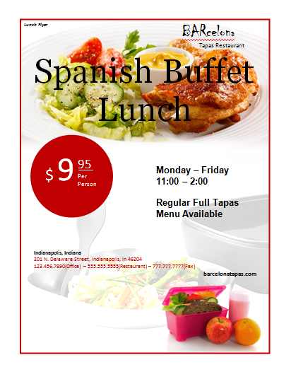 Lunch Flyer Template – Lunch Flyer Template