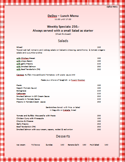 ... is preview of this Office Menu Template created using Microsoft Word