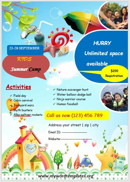 Camp Flyer Template 01