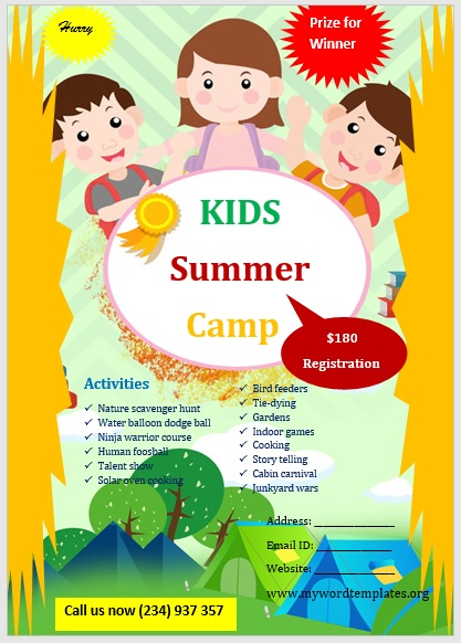Camp Flyer Template 03