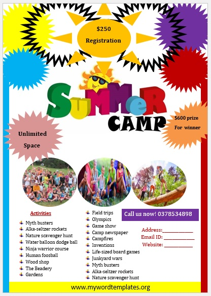 Camp Flyer Template 04
