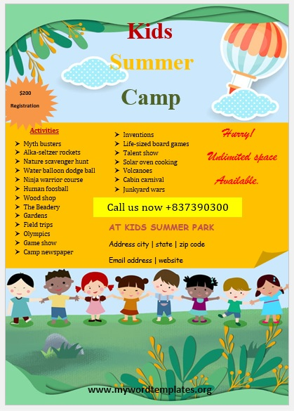 Camp Flyer Template 05
