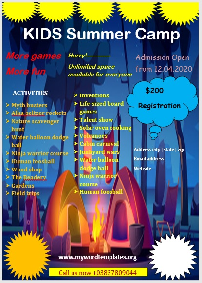 Camp Flyer Template 06