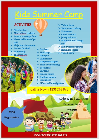 Camp Flyer Template 07
