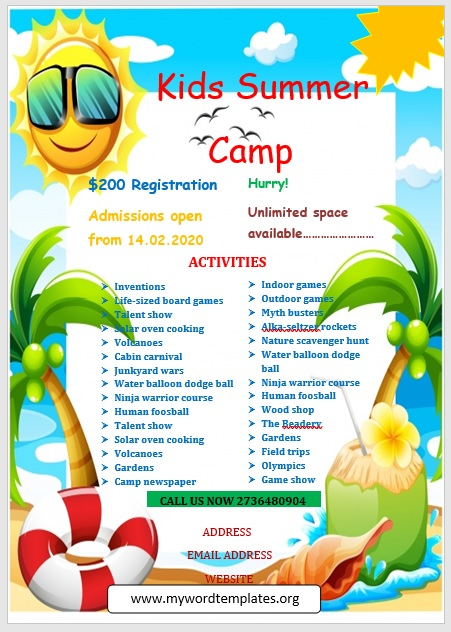Camp Flyer Template 09