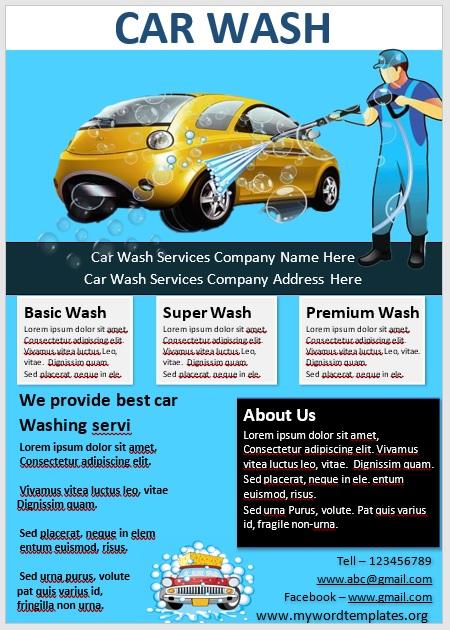 Car Wash Flyer Template 02