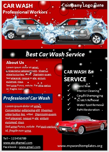 Car Wash Flyer Template 03
