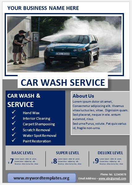Car Wash Flyer Template 06