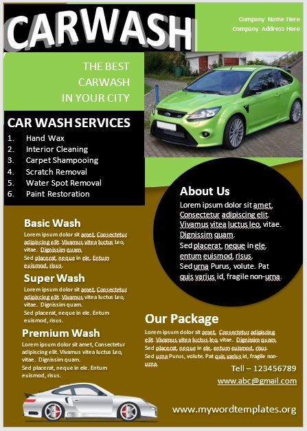 Car Wash Flyer Template 08
