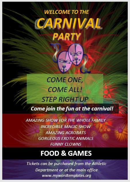 Carnival Flyer Template 07