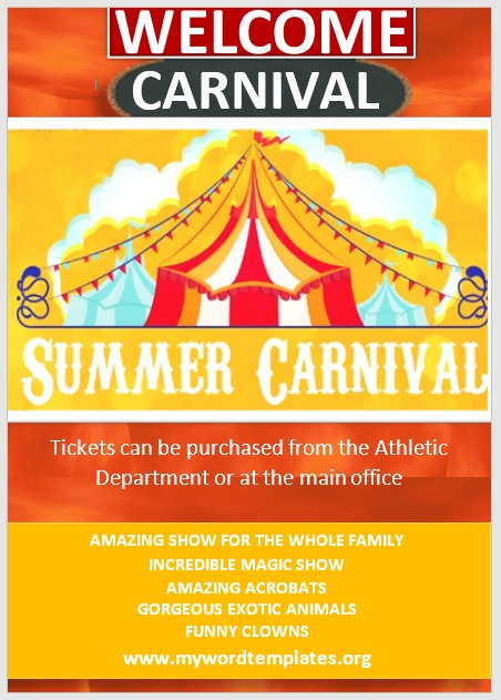 Carnival Flyer Template 08
