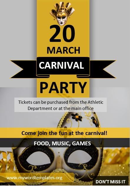 Carnival Flyer Template 10