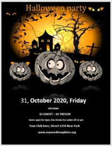 Halloween Party Flyer Template 04