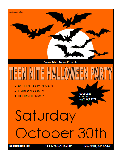 halloween party flyer template microsoft word templates. Black Bedroom Furniture Sets. Home Design Ideas