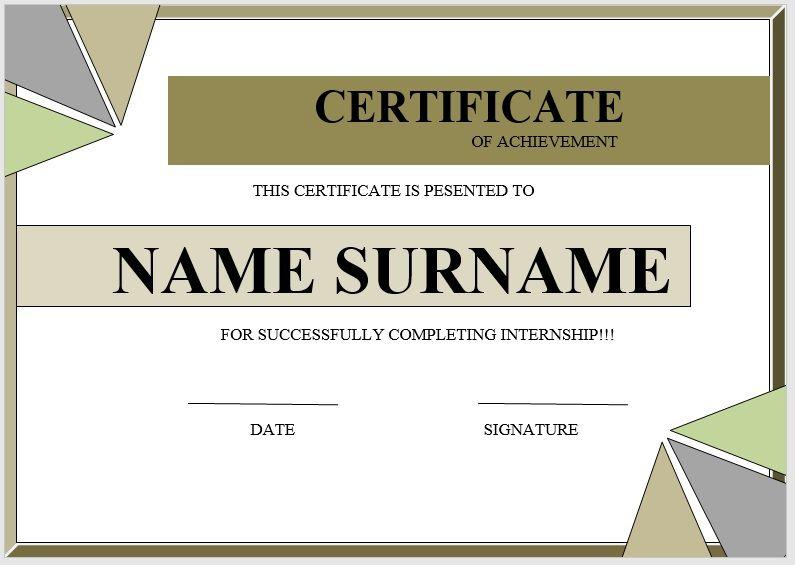 Internship Certificate Template 04