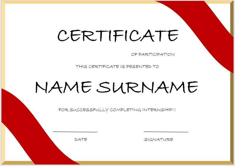 Internship Certificate Template 05