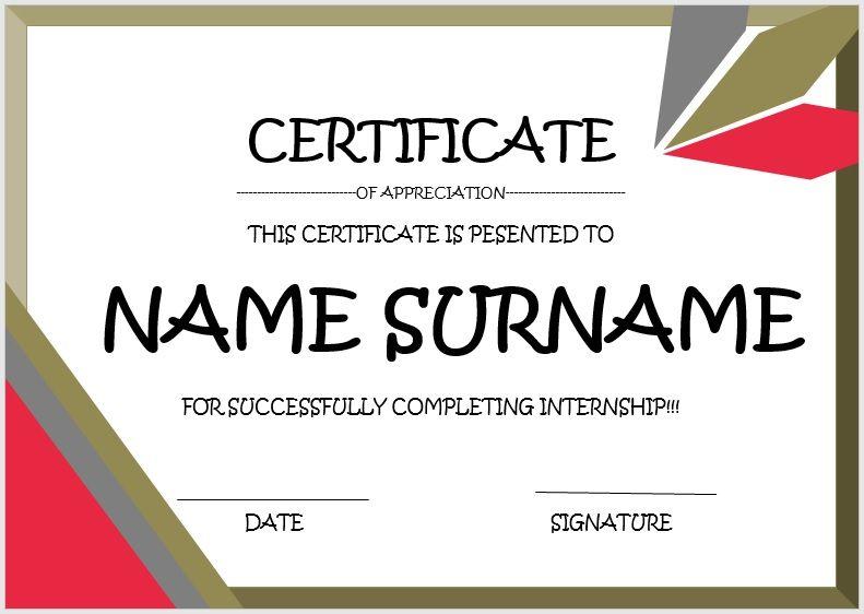 Internship Certificate Template 06