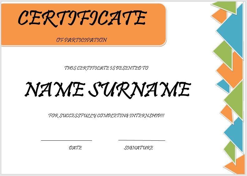 Internship Certificate Template 07