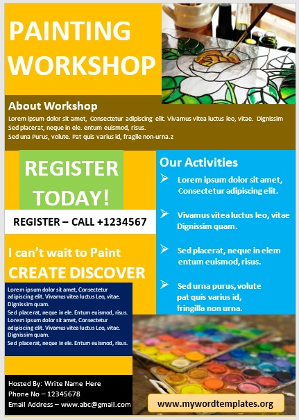 Painting Workshop Flyer Template 01