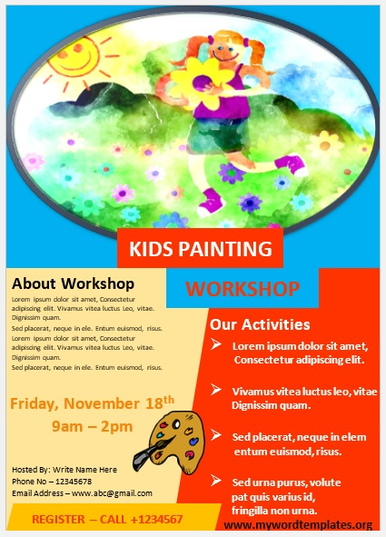 Painting Workshop Flyer Template 03