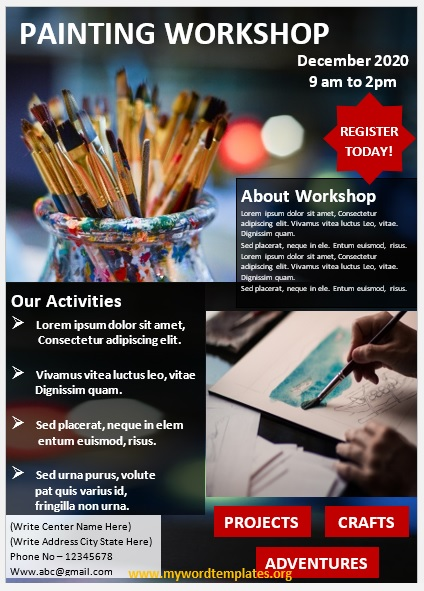Painting Workshop Flyer Template 04