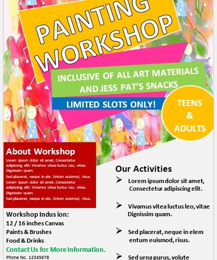 Painting Workshop Flyer Template 05
